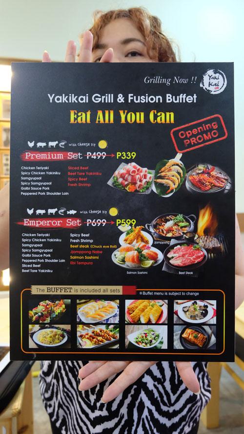 Yakikai menu