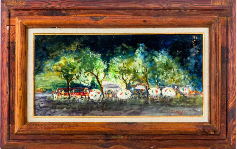 """Summer Nights in Madrid"" by prolific painter Betsy Westendorp de Brias"