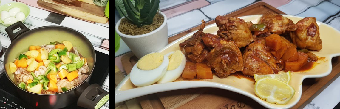 chicken afritada with egg