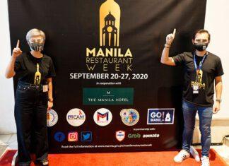 Manila Vice Mayor Isko Moreno and Vice Mayor Honey Lacuna at the launch of Manila Restaurant Week at the Manila Hotel