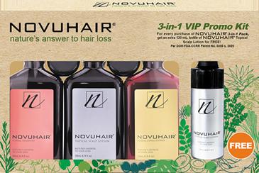 Novuhair 3-in-1 VIP Promo Kit