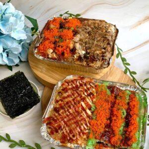 Healthy Sushi Bake with Cauliflower Rice