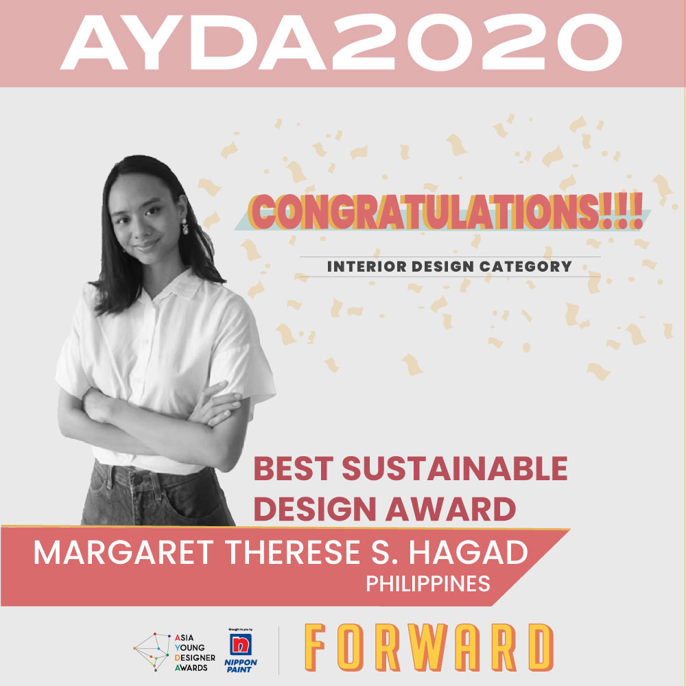 Margaret Therese Hagad, AYDA2020 Best Sustainable Design Award