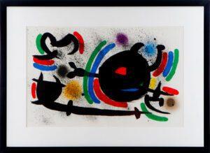 Lot 156: An original lithograph by Spanish artist Joan Miro