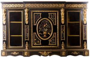 Lot 22: 19th century French Napoleon III style credenza in lacquered wood
