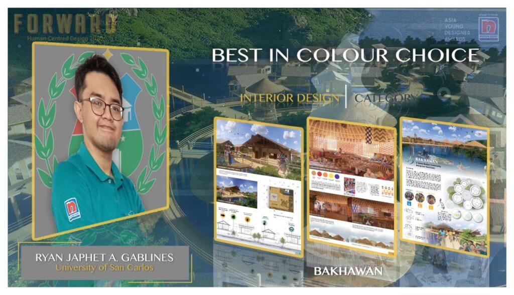 Ryan Japhet Gablines of the University of San Carlos – Cebu in Interior Design