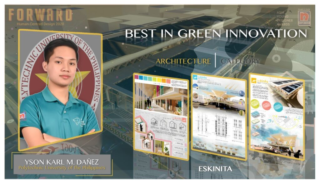 Yson Karl Dañez of the Polytechnic University of the Philippines in Architecture