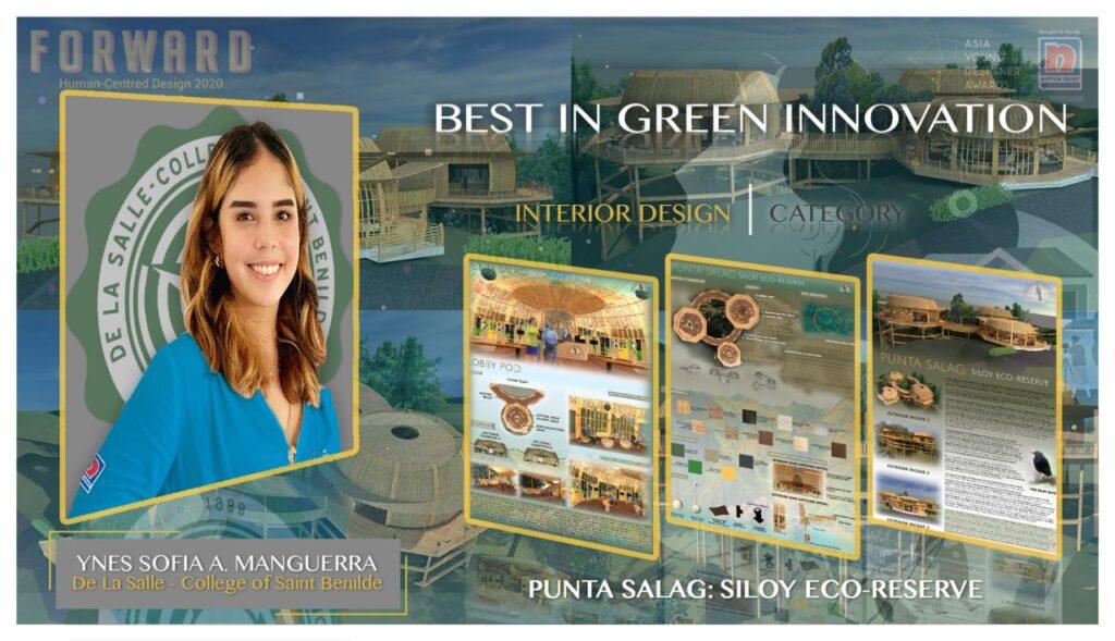 Ynes Sofia Manguerra of De La Salle-College of Saint Benilde in Interior Design