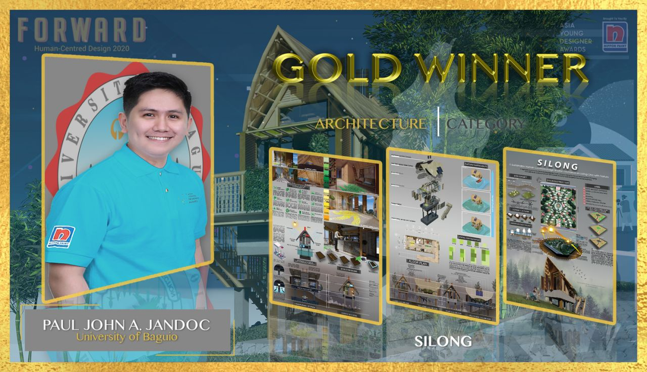 Paul John Jandoc of the University of Baguio in Architecture